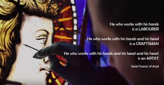 Artists quote by St Francis of Assisi