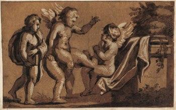 """Xilografia em """"chiaroscuro"""" por um artista italiano anonimo do seculo XVI"""